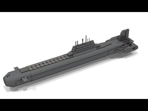 How to Build Lego Mini TYPHOON Class Submarine