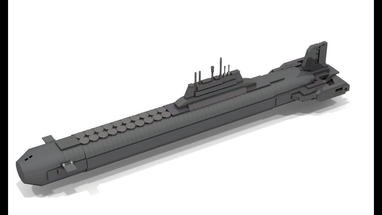 How To Build Lego Mini Typhoon Class Submarine Youtube