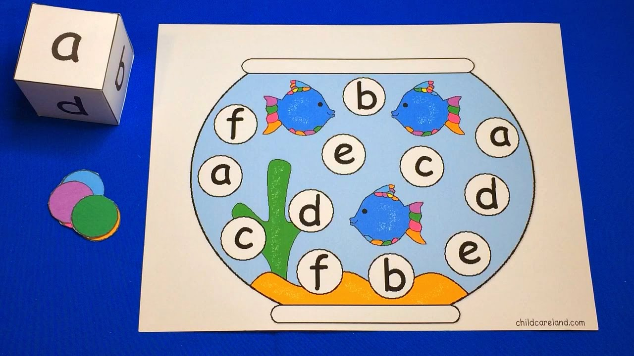 Worksheets Preschool Learning Activities fishbowl roll and cover preschool learning activity youtube activity