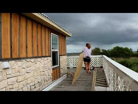 08-25-2020 Port Arthur, TX - Hurricane Laura - Port Arthur Becomes A Ghost Town. Citizens Board Up H