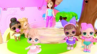 Ляльки Лол Сюрприз! Няня Барбі для Lol Surprise - Мультик з іграшками!