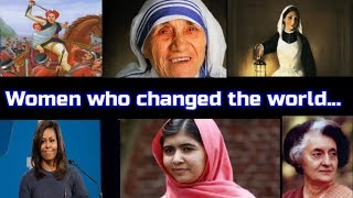 Women who changed the world   Women who inspired everyone   Women's Day Special.