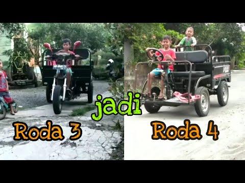 Mini Jeep Dari Rongsokan Motor Roda 3 Youtube