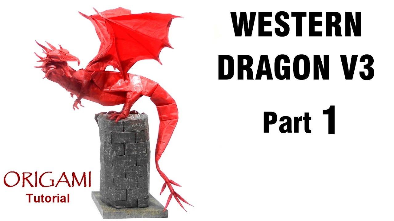 Origami Western Dragon V3 Tutorial Shuki Kato Part 1 折り紙 西洋の