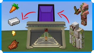 How To Build An Iron, Gold, & Carrot Farm [Minecraft Bedrock Edition]