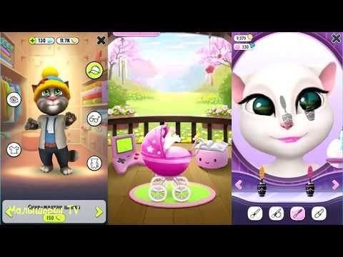 ГОВОРЯЩАЯ АНДЖЕЛА #1 - ПЕРВОЕ ЗНАКОМСТВО с МИЛОЙ КОШЕЧКОЙ - мультик игра видео для детей #ПУРУМЧАТА