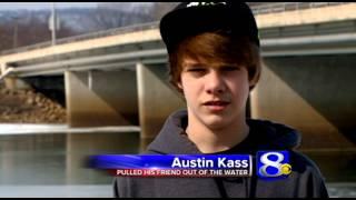 Teen saves friend who fell through ice
