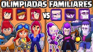 WHAT IS THE BEST FAMILY? | REDHEAD VS MONSTERS | FAMILY OLYMPICS BRAWL STARS