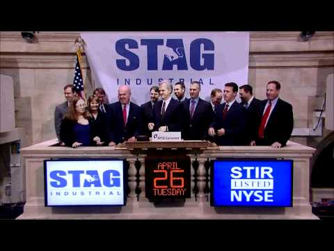 27 April 2011 STAG Industrial rings the NYSE Opening Bell