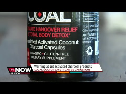 Warning about activated charcoal products