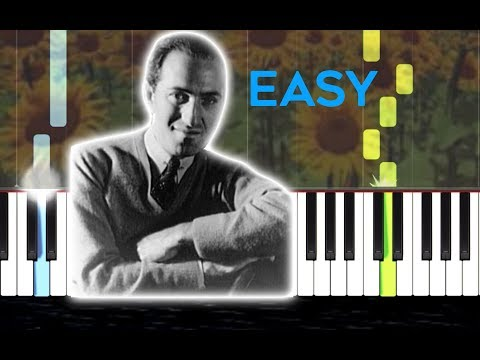 """🎹""""SUMMERTIME"""" - George Gershwin, easy [SYNTHESIA] (Piano Tutorial) SHEET MUSIC thumbnail"""