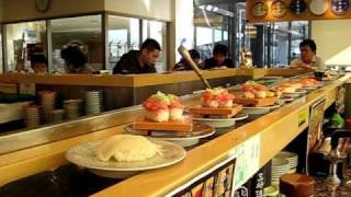 Japanese Innovation-  Waitress(less) Food Delievery System-  Kaiten Zushi at Narita Airport