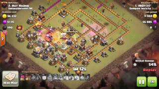 Clash of Clans - War Recap Th 11 - Semper Invicta vs. SDNL - Ataques Semper Invicta