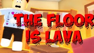 THE FLOOR IS LAVA IN ROBLOX!! (Roblox Gameplay)