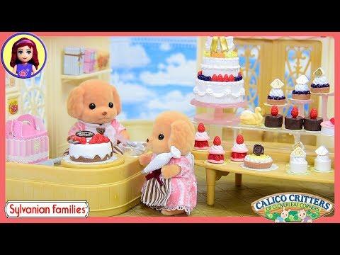 Sylvanian Families Calico Critters Village Cake Shop & Cake Decorating Set Unboxing Setup - Kids Toy