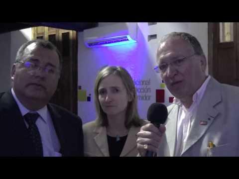 John Alejandro Sanchez entrevistando a Benoît Battistelli director de la OPE