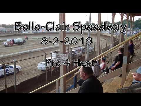 Belle Clair Speedway Pro 4 Heat 1 August 2 2019