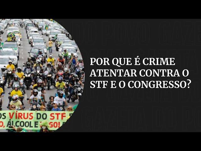 Por que é crime pedir o fechamento do Congresso e do STF?