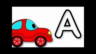 Learn the ABC with Funny Car and sing 'The Alphabet Song'!