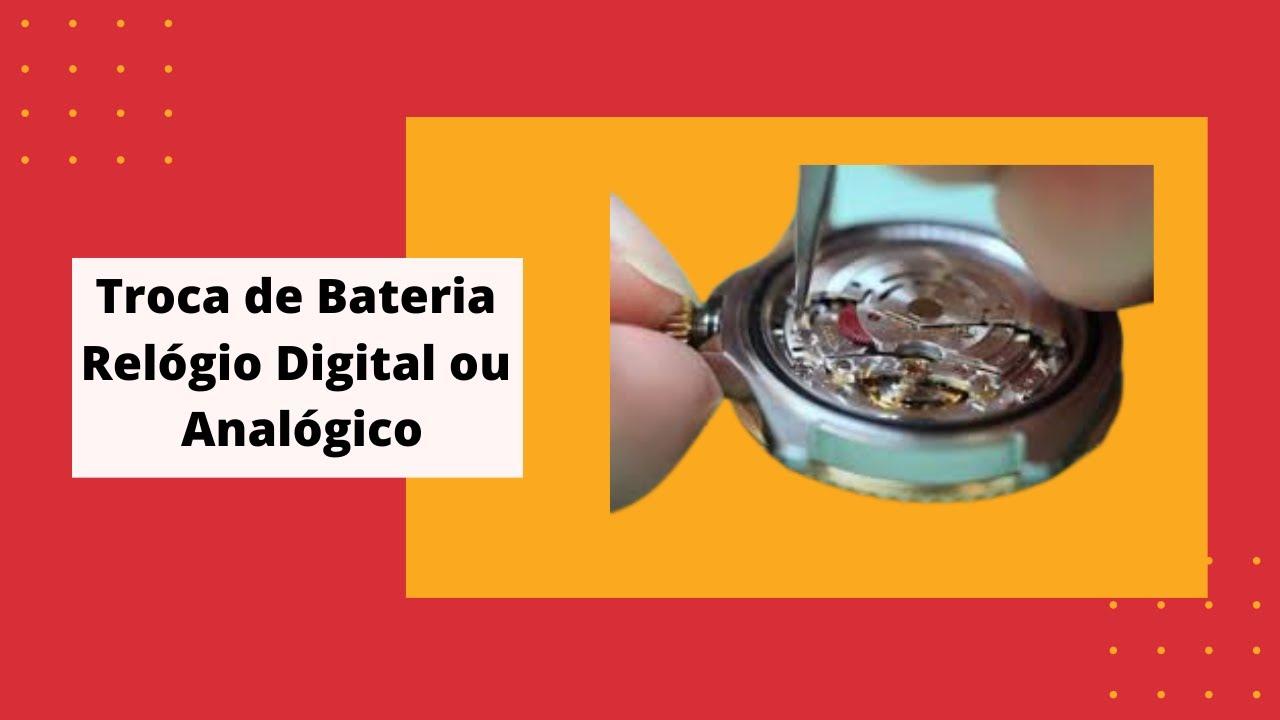 c3ff7780625 Troca de bateria em relógio com analógico e digital - YouTube