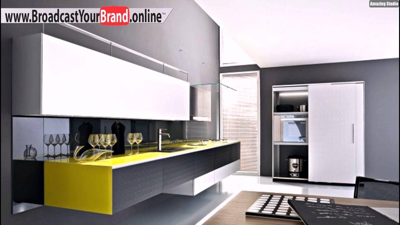 Riciclantica Design Küche Aluminium Schwarzlack Gelb Akzente Valcucine