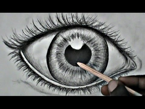 Step by step drawing a realistic eye for beginners