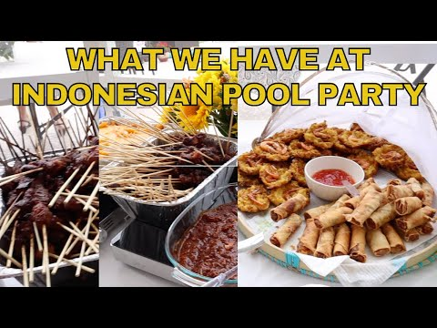 pool-party-featuring-traditional-indonesian-food-bakso,-satay-&-es-cendol-(indonesian-cuisine)