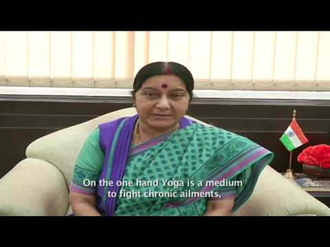 (English subtitled) Message by External Affairs Minister Sushma Swaraj on 2nd IDY