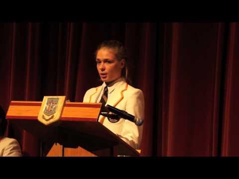 Senior Public Speaking  Dr. W.H. Merritt Memorial Prize Winner: Lea Müller