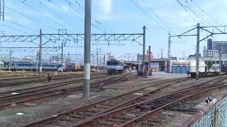 JR四国 松山駅貨物ターミナル裏 宇和島行き2000系特急宇和海9号 発車