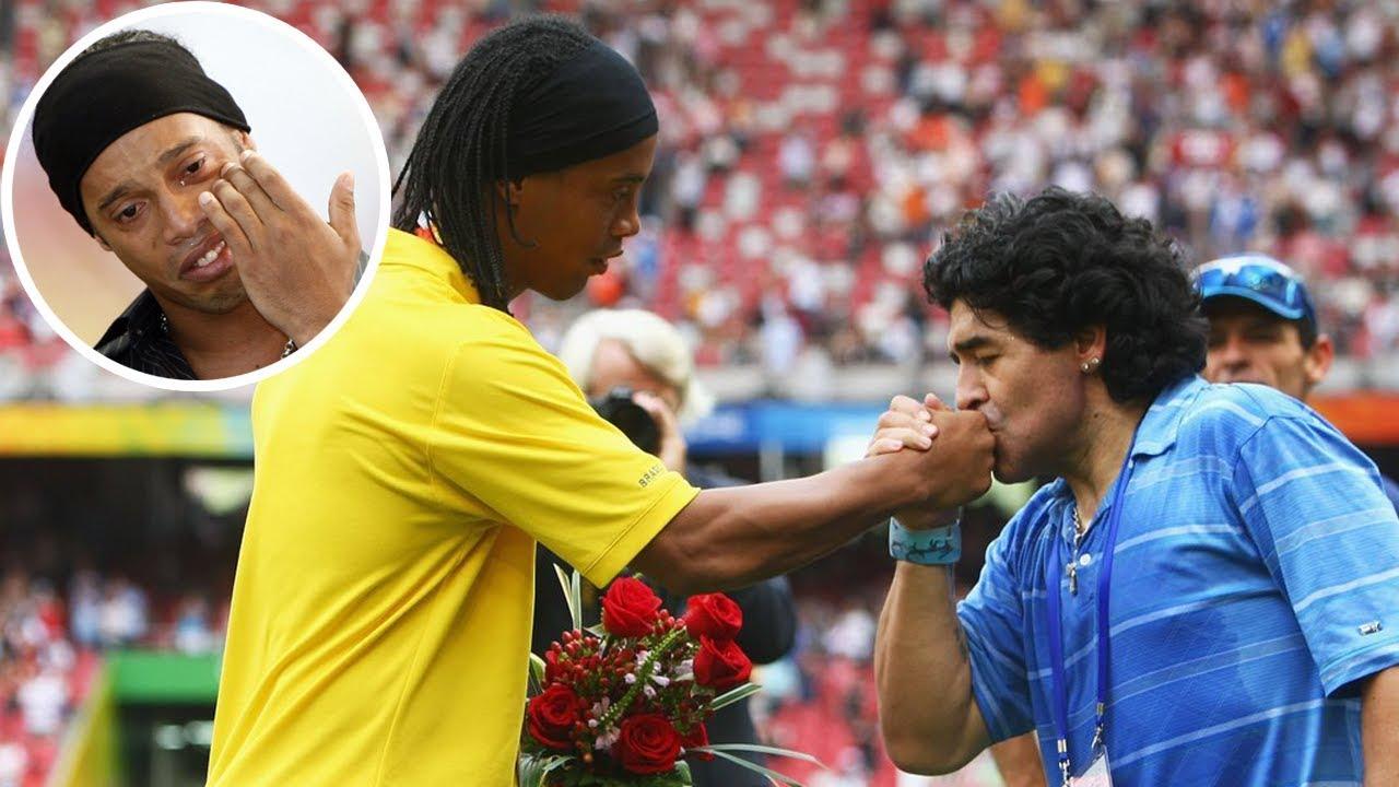 اليوم الذي بكى فيه رونالدينهو بسبب مارادونا