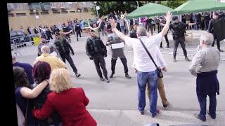 1 Octubre Policia Guardia Civil in Ponts, Catalonia