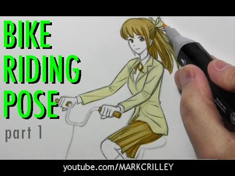 How To Draw Someone Riding A Bicycle Part 1 The Pose Youtube