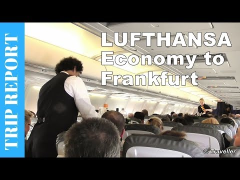 LUFTHANSA ECONOMY CLASS flight to Frankfurt - Boeing 737 Flight Review