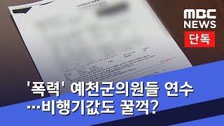 [단독] '폭력' 예천군의원들 연수…비행기값도 꿀꺽? (2019.01.16/뉴스데스크/MBC)
