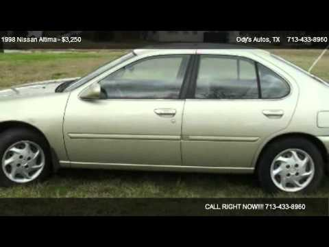 1998 nissan altima gxe for sale in houston tx 77045 youtube. Black Bedroom Furniture Sets. Home Design Ideas