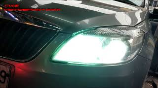 V1537 Skoda Rapid Tech Hardy High Performance Heatsink Cree Led Headlamps by Mxsmotosport