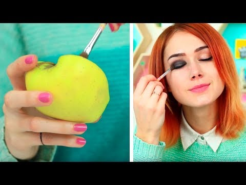Life Hacks Fürs Makeup In Der Schule! /  17 Möglichkeiten Makeup In Klasse Zu Schmuggeln