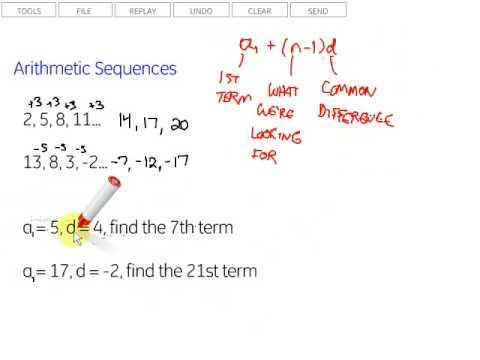 Arithmetic Sequences - Lessons - Tes Teach - arithmetic sequence example
