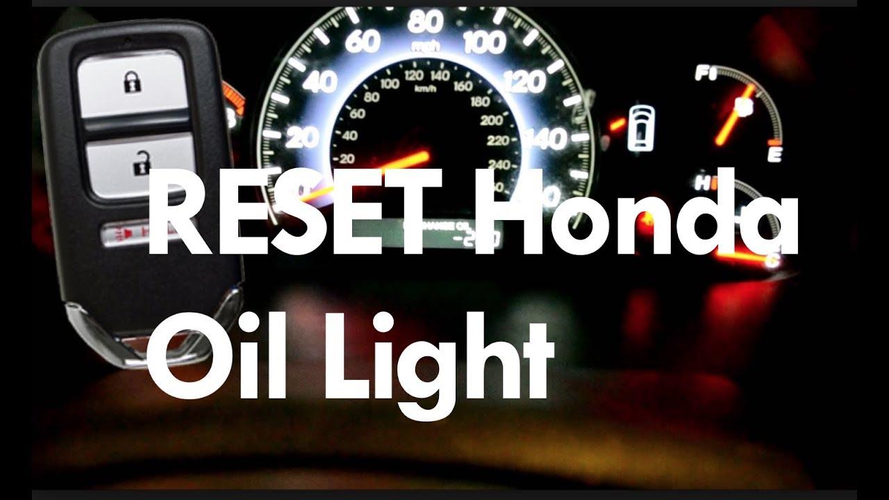 diy reset honda smart key odyssey oil change maintenance light   accord civic pilot