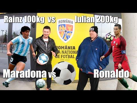 FOTBAL 1v1 PARIU: Rainz(Maradona) 100kg VS Iulian(Ronaldo) 200kg - Lovitură Liberă La Poarta