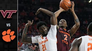 Virginia Tech vs. Clemson Basketball Highlights (2019)