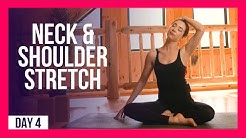 10 min Morning Yoga For Neck & Shoulder Relief – Day #4 (NECK & SHOULDER STRETCHES)