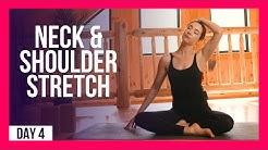 10 min Morning Yoga For Neck & Shoulder Relief – Day #4 (NECK & SHOULDER STRETCHES)