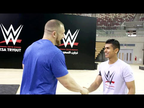 Mojo Rawley meets WWE tryout attendees in Saudi Arabia