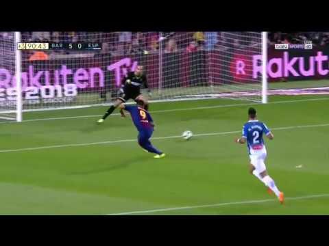 Luis Suárez Trick-Shot Goal vs Espanyol | (09/09/2017) HD