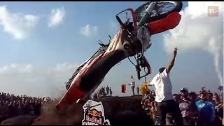 Viral Video UK: Dirt Bike Ramp Jump Fail!