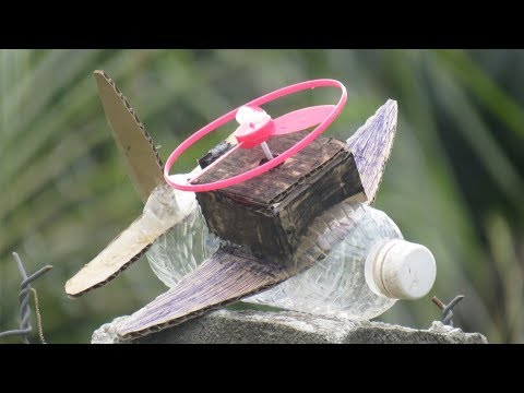 New Technology Make airplane With Box Paper Plastice Bottle And Mc Motor