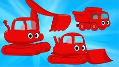 Construction Vehicles Morphle - Excavator, Bulldozer and Dumptruck Videos For Kids