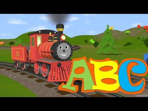 İngilizce ALFABE. Tren Shawn A B C harfleri öğretiyor.